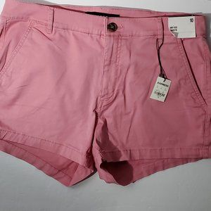 Express Size 10 Pink Shortie Shorts NWT